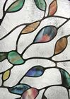 NEW LEAF Stained Glass Privacy Static Cling Window Film 24x36 Door Decor
