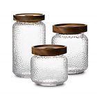 Storage Jar Set by NUTRIUPS Glass Jar Containers for Kitchen Airtight Food Jar