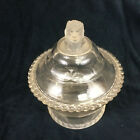 EAPG Gillinder  Sons Frosted Lion Covered Compote Early American Pressed Glass
