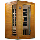 Golden Designs Andora 2 Person Low EMF 6 Heating Panel Infrared Therapy Sauna