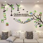 Living room 3D wall Stickers tree photo frame Self adhesive Acrylic Home Dcor