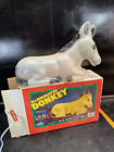 Vintage Christmas EMPIRE Nativity Manger DONKEY Lighted Blow Mold 18 w Box