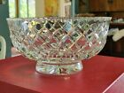 RARE SIGNED CARTIER LARGE CRYSTAL GLASS BOWL CROSS HATCH w Box