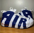 Nike Air More Uptempo NY Knicks Patrick Ewing White Blue Size 95 Sneakers Shoes