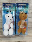 PEZ ARTIC BABIES KEYCHAINS Collectible Caribou and Polar Bear NEW NIB
