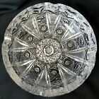 Czech Bohemia Cut Crystal Queen Anne Lace Ashtray Thick Heavy Over 3 lbs
