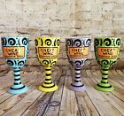 Our Name Is Mud by Lorrie Veasey Cheap Wine Expensive Goblet Set of 4 Ceramic