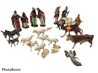 Vintage Nativity Figures Assorted Lot 25 Pieces Germany Depose Italy Unbranded