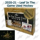 2020-21 LEAF ITG IN THE GAME USED Hockey EMERALD Sealed Box - Free Shipping