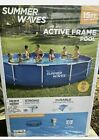 Summer Waves 15x 33 Above Ground Swimming Pool Metal Active Frame Set