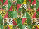 Quilt Fabric Pre Quilted Strawberry Shortcake Floral Quilt Print Panel 45x44