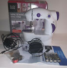 Easy Home Mini Sewing Machine Complete With Foot Pedal AC Adapter  Manual