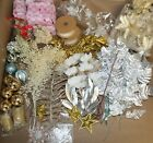 Huge Lot of NEW Christmas Decorations Silver and Gold Nativity LOOK