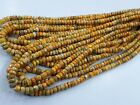 14 AAA Natural Bumble Bee Jasper Gemstone Faceted Rondelle Beads 6 8MM