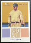 BABE RUTH 2010 TOPPS NATIONAL CHICLE GAME USED BAT RELIC CARD NEW YORK YANKEES