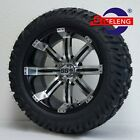GOLF CART 15x7 MACHINED TEMPEST WHEELS and 23x10 15 DOT GATOR A T TIRES