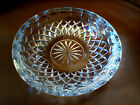 VINTAGE CLEAR CRYSTAL GLASS CIGAR ASHTRAY 4 SLOT DIAMOND CUT ETCHED FLOWER 7