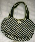 MACKENZIE CHILDS COURLTY CHECK CARRY ALL TOTE