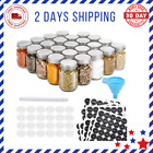 Glass Mason Spice Jars Bottles Empty Spice Containers Labels Shaker Lid Airtight