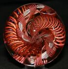 James Alloway 27 Diameter Orange and Dichroic Twisted Cane