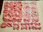 Lot of 29 New Breast Cancer Hair Bows Clips Girls Cheerleading Cancer Teams