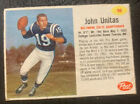 1962 Post Cereal Johnny Unitas Colts Card - One Of Football's BEST Quarterbacks!