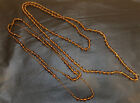 Vintage Art Deco Amber Glass Flapper Necklaces 6560 Knotted Amber Glass Beads 2