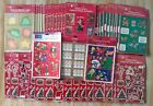 Huge Lot  164 New Sheets of Christmas  Holiday Stickers Sealed Packs