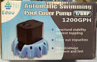 EDOU Automatic Swimming Pool Cover Pump Submersible Water Pump1200 GPH1 6 HP1