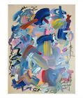 LARGE EXPRESSIONISM ABSTRACT ART PAINTING ORIGINAL CANVAS COLORFUL KAWS DESIGN