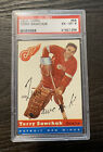 1954-55 Topps #58 Terry Sawchuk Red Wings Graded PSA 6 - EX MT Rookie Card!