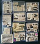 Stampin Up HUGE LOT 12 Rubber Stamp Sets FLOWERS CHRISTMAS BUTTERFLY HEARTS MORE