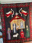 Nativity Scene Quilt Baby Wall Hanging Crib Recliner Throw 50 wide x 61 long