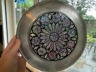 The Creation Rose Stained Glass Pewter Plate Notre Dame Cathedral Paris Numbered