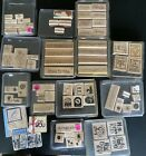 Stampin Up HUGE LOT 13 Rubber Stamp Sets FLOWERS SAYINGS TAGS BUGS SAMPLES MORE