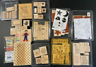 Stampin Up HUGE LOT 9 Rubber Stamp Sets BABY FLOWERS POLKADOTS CHRISTMAS EXTRAS