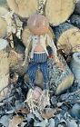 Primitive Grungy 26 Henry Pumpkin Man Doll Autumn Fall Country
