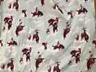 Alexander Henry Cotton Fabric Flying High Western Cowboy Rodeo Horse Bronco