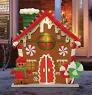 MR CHRISTMAS BLOW MOLD GINGERBREAD HOUSE 36 TALL LED LIGHTED INDOOR OUTDOOR