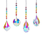 Crystal Glass Suncatcher Hanging Colorful Window Crystals Prisms Ornament with