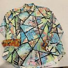 Robert Graham Exclusive Watercolor Abstract Stained Glass Pattern Shirt 2XL Rare