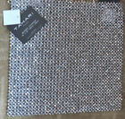 TAHARI GOLD OR SILVER YOU PICK Beaded Placemat 15 SQUARE CHARGER SHIMMER