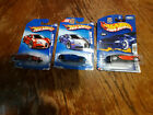 Hot Wheels BUGATTI VEYRON LOT OF 3 BLUE 2009 RED 2009 RED BLACK 2003