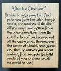 What is a Christian Pumpkin Fall Autumn Religious Word Phrase Wood Rubber Stamp