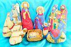 NATIVITY PLUSH SET 8 Pieces Christmas Holiday Christian Weighted Bottom