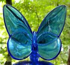 Baccarat Crystal Blue Lucky Butterfly Figurine France Mint