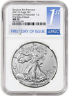 Presale 2021 S T2 Silver Eagle NGC MS70 First Day Emergency Production