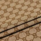 GUCCI AUTHENTIC MATERIAL 1 Yrd Monogram Jacquard Fabric NEXT DAY SHIPINBrown