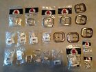 Huge Lot 22 Assorted New Tandy Buckles Nickel Stainless Brass Leather Work 10c