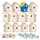 12 Wooden Birdhouses Crafts for Girls and Boys Kids Bulk Arts and Crafts